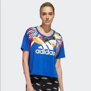 Adidas Women X Farm Rio Oversize Short Sleeve Tee
